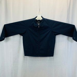 Vintage 70's Navy Retro Fitted Jacket - Men's M